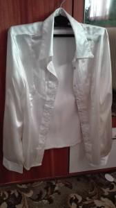 biela hodvab bluzka